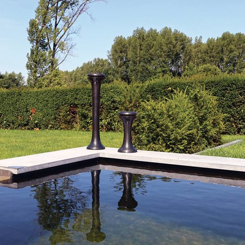 Borne lumineuse rustique bronze, nickel, chrome