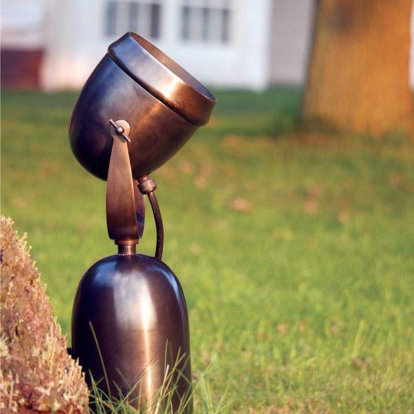 Spot éclairage arbre rustique bronze