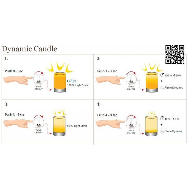 Lampe de chevet chandelier avec bougies