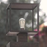 Lanterne colonne extérieur bronze verre