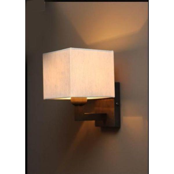 Wandlamp met kapje landelijk brons, nikkel, chroom