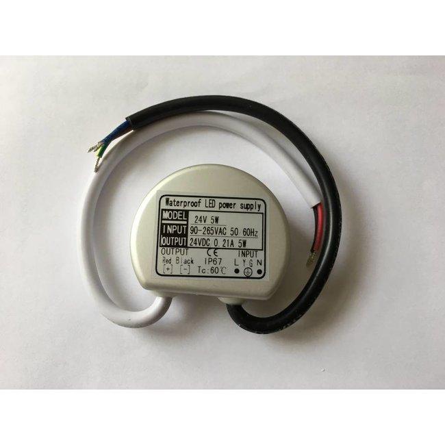 Transformateur LED 24V DC IP65 5W