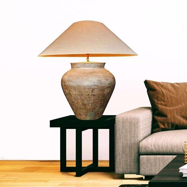 Tafellamp keramiek linnen kap 90cm hoog