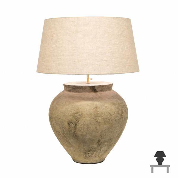 Keramiek tafellamp landelijk met kap 90cm hoog