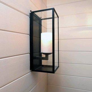 Wandlamp landelijk wonen met kaars LED