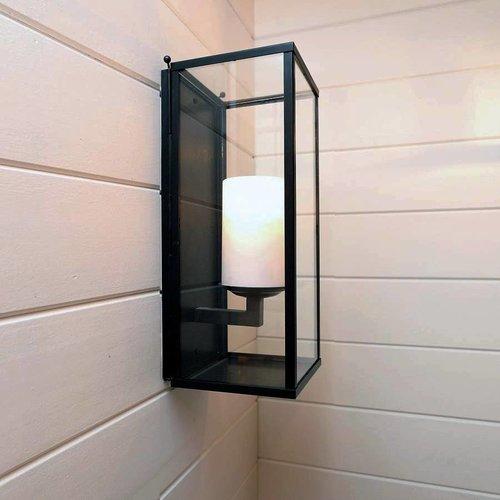 Applique murale bougie LED verre extérieur ou intérieur