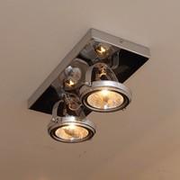 Plafondlamp landelijke stijl rechthoekig 2 spots