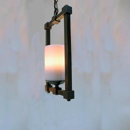 Hanglamp ketting landelijk kaars brons, nikkel, chroom