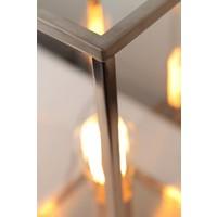 Glazen tafellamp landelijk brons, nikkel of chroom