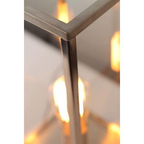 Lampe de chevet en verre rustique bronze, nickel, chrome