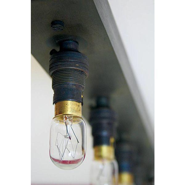 Spiegellamp landelijk brons 1m, 1,2m, 1,5m of 2m