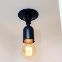Vintage plafondlamp brons, geborsteld nikkel of chroom
