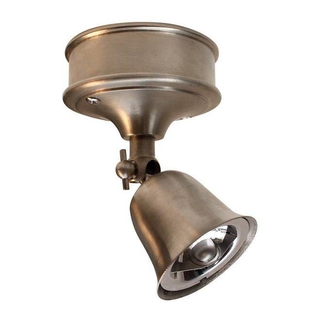 Plafonnier spot rustique directionnel bronze, nickel, chrome