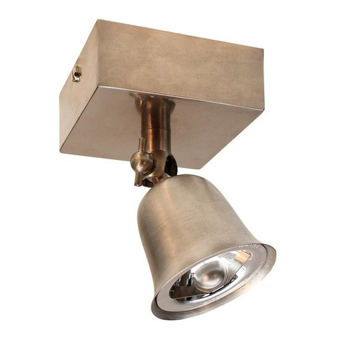 Spot rustique directionnel bronze, nickel, chrome