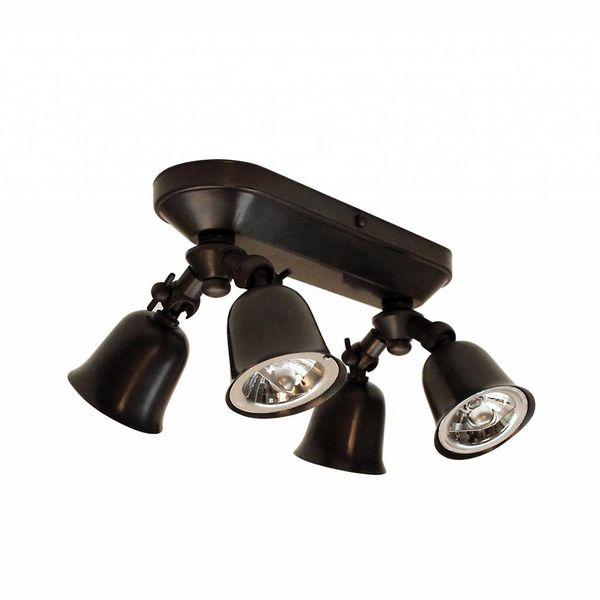 Plafonnier spots orientables rustique bronze, nickel, chrome