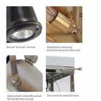 Spot plafondlamp landelijk brons, nikkel, chroom