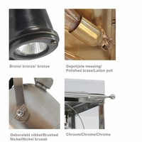4 spots lamp landelijk brons, nikkel, chroom