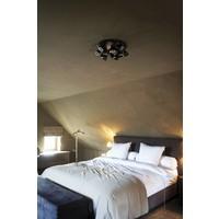 Exclusieve plafondlamp landelijk 12 spots brons, nikkel, chroom