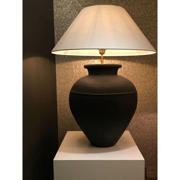 Lampe céramique artisanale avec abat-jour