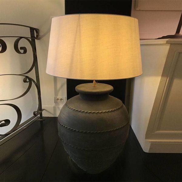 Lampe céramique à poser avec abat-jour