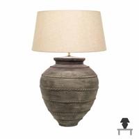 Keramiek lamp landelijke stijl met kap 90cm hoog