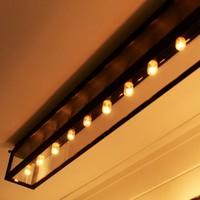 Plafondlamp glas lang landelijk 41, 61 of 111 cm