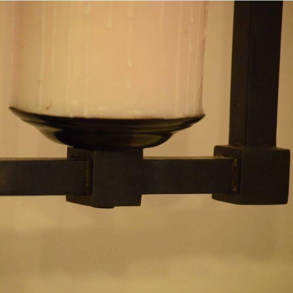 Suspension chic romantique rustique bronze avec bougie