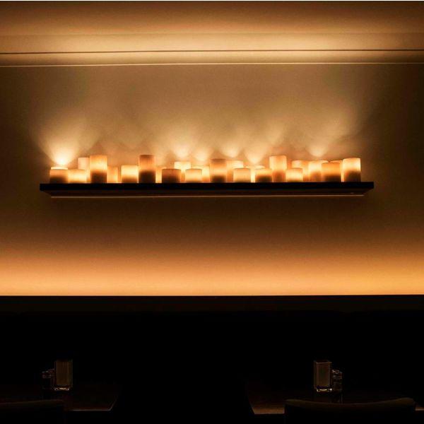 Applique murale cosy bougies LED