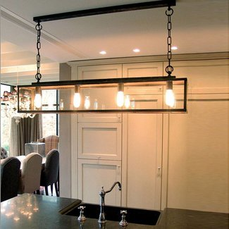 Eetkamer lamp landelijk brons, nikkel of chroom