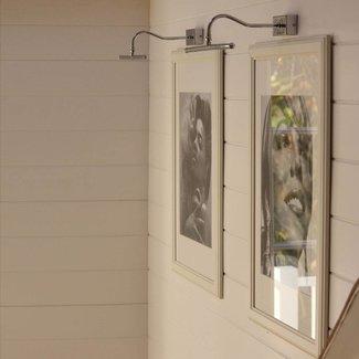 Schilderijverlichting LED landelijk brons, nikkel, chroom, messing