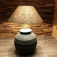 Lampe de salon céramique avec abat-jour
