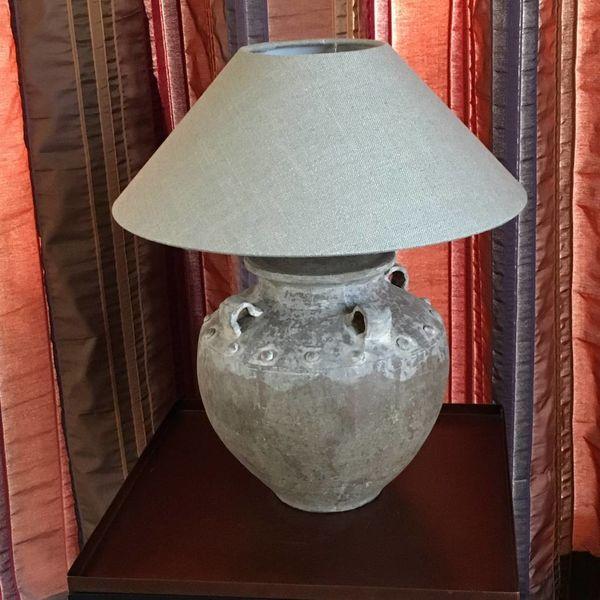 Kruiklamp landelijke stijl met lampenkap 40 cm hoog