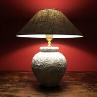 Lampe poterie artisanale avec abat-jour