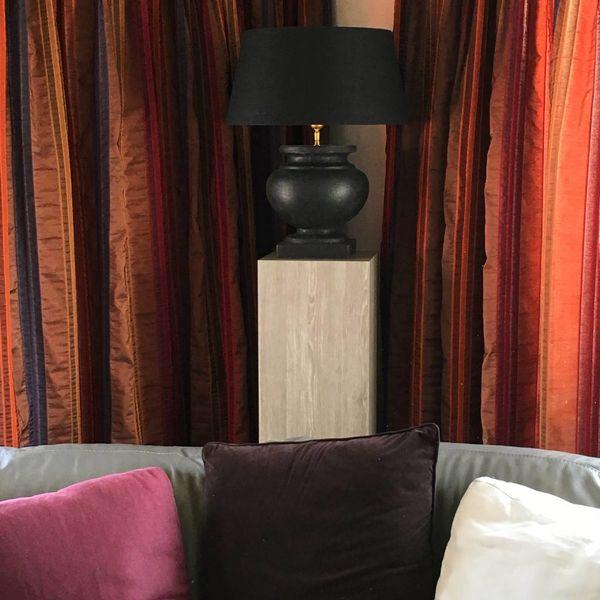 Rustieke tafellamp keramiek 57 cm hoog