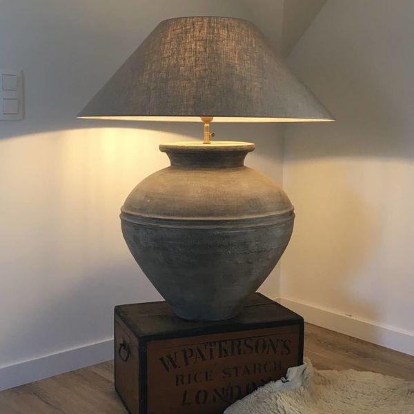 Lampe de table céramique avec abat-jour