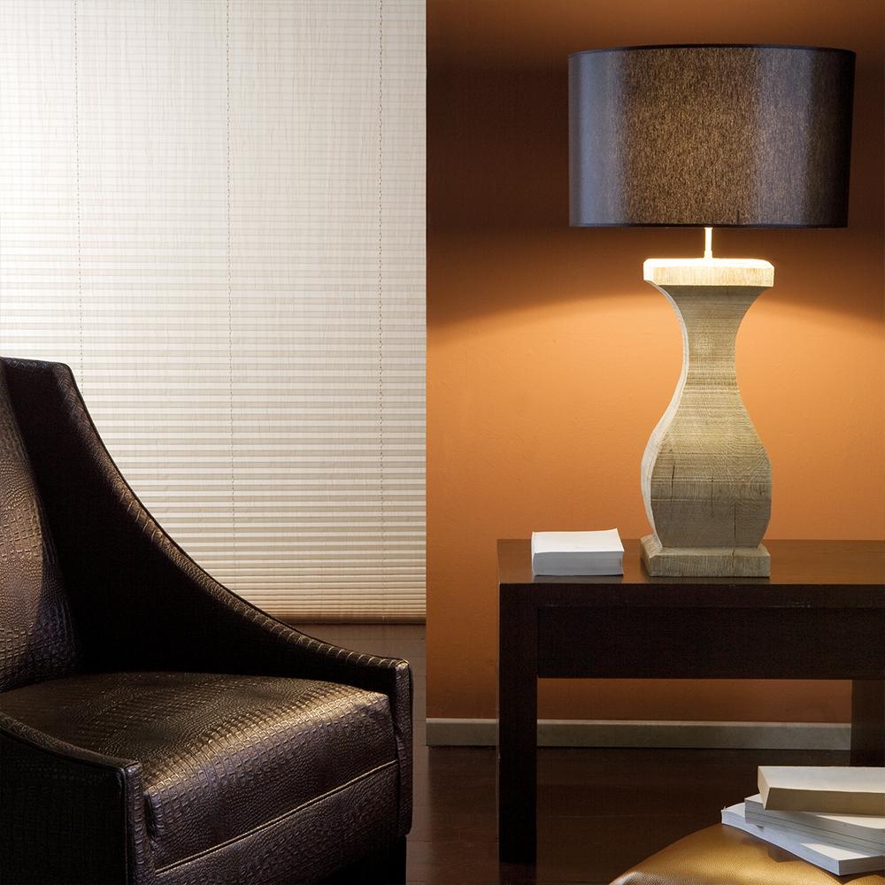 landelijke tafellamp in hout