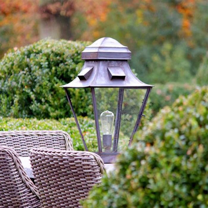 Sokkellamp buiten landelijke stijl