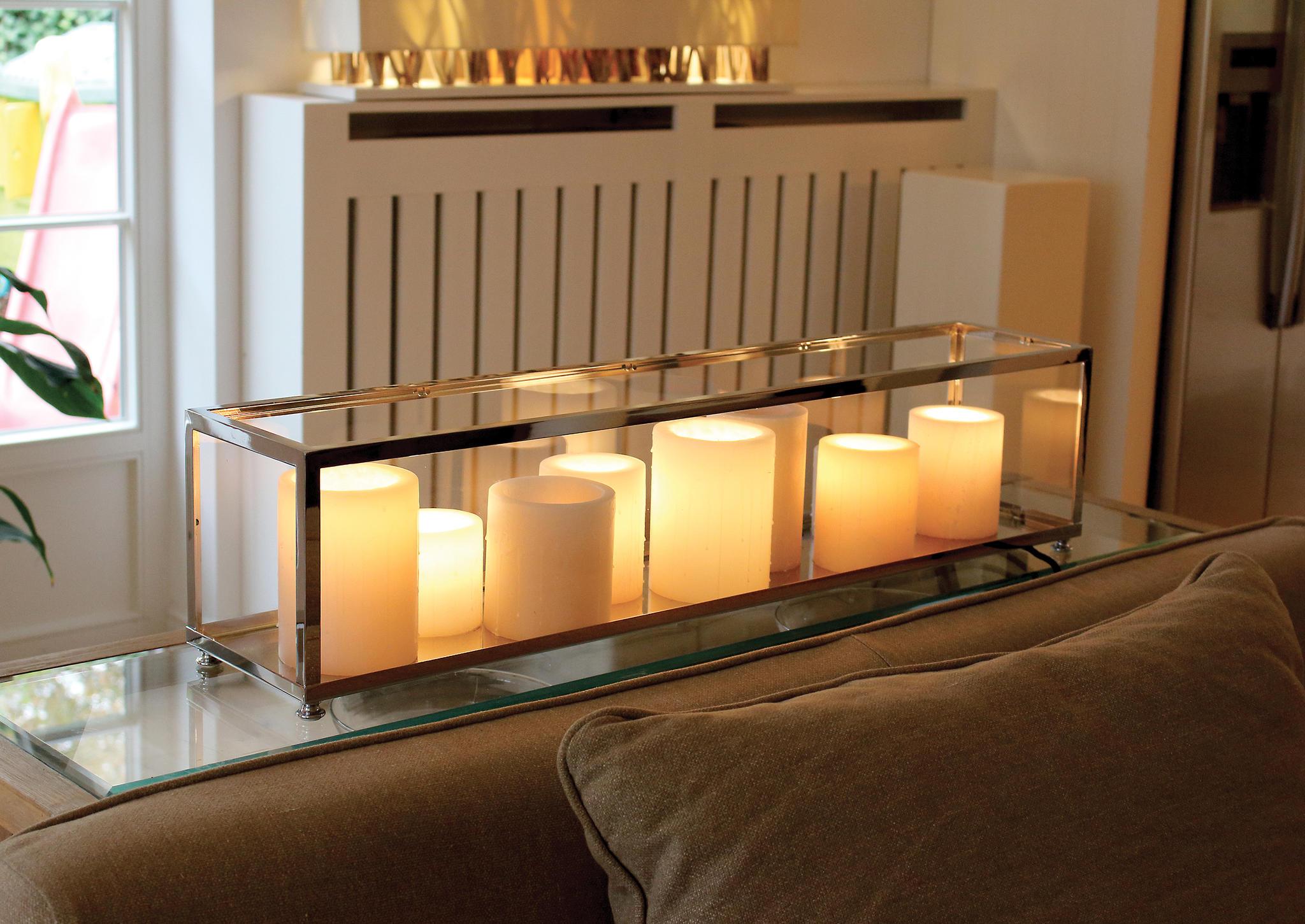 exclusieve tafellamp met kaarsen landelijke stijl