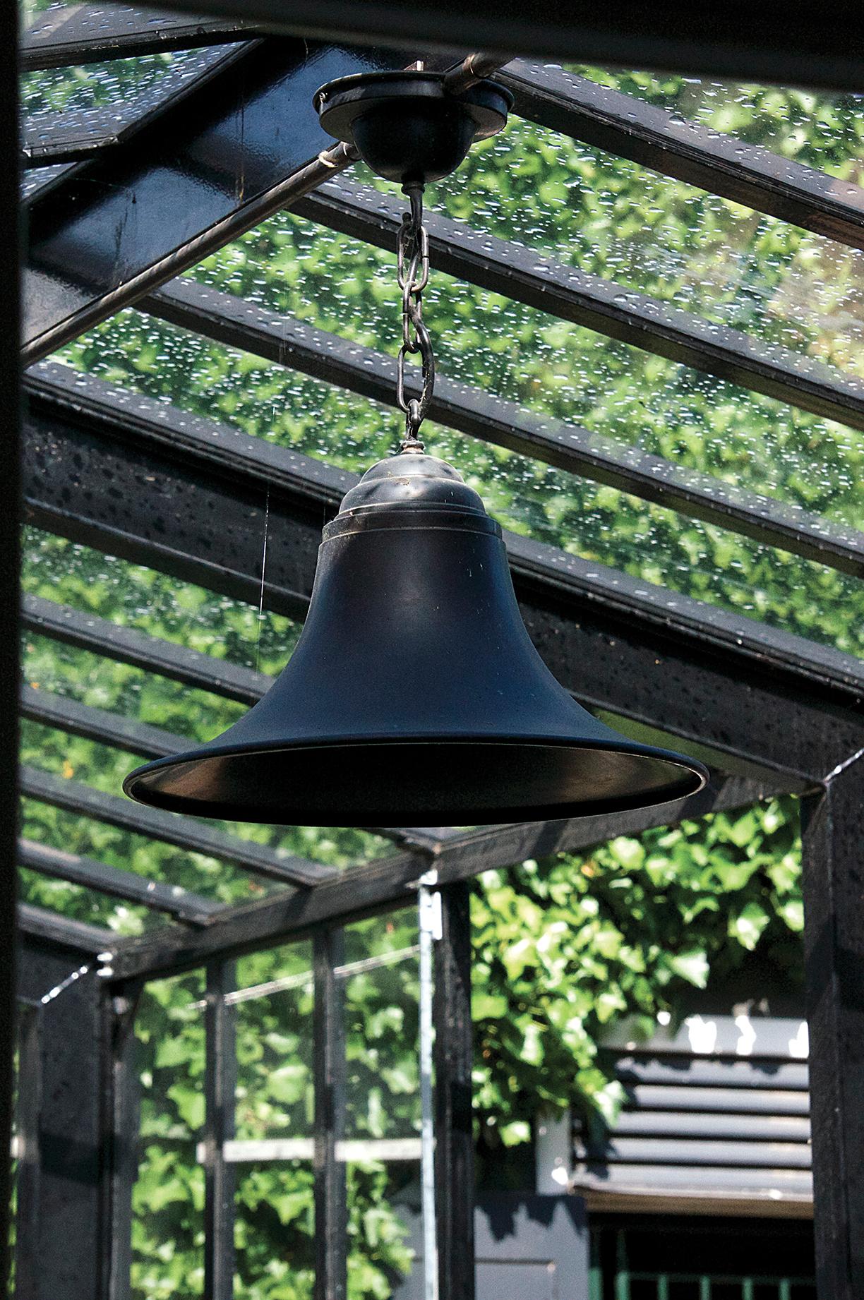 Hanglamp landelijk klok brons