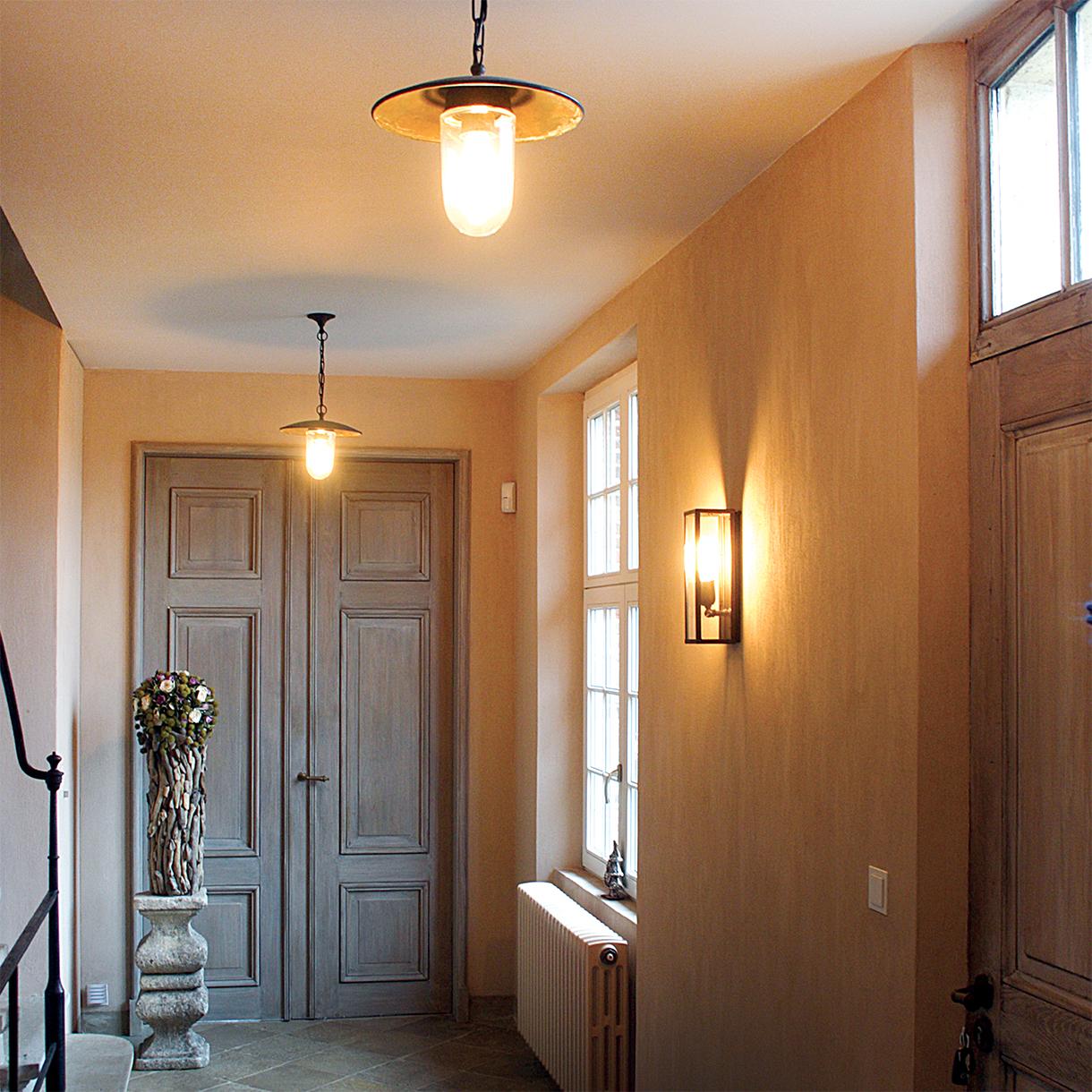 hanglamp hal met ketting landelijk brons, geborsteld nikkel of chroom