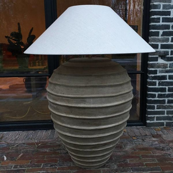 Lampadaire abat-jour céramique rustique