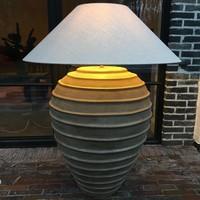 Grote kruiklamp met lampenkap 108 - 122 cm H