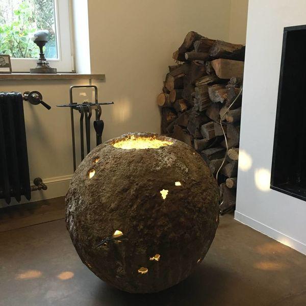 Vaas schemerlamp landelijk 54 cm hoog