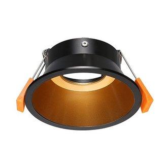 Spot doré noir rond 230V GU10 diamètre 100mm