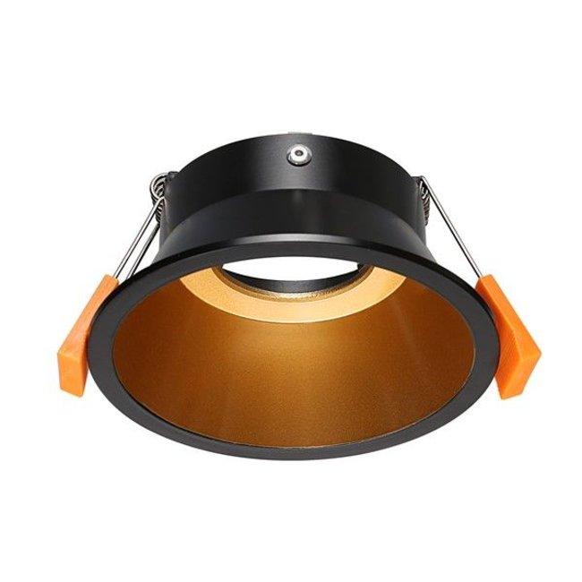 Inbouwspot diameter 100mm zwart goud