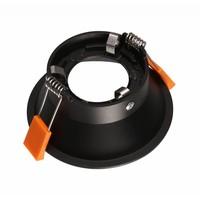 Zwarte inbouwspot 100mm diameter GU10