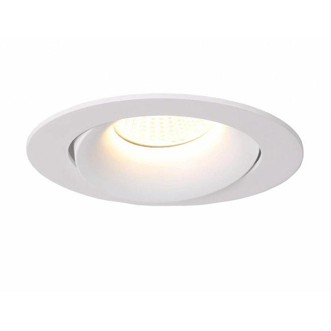 Spot encastrable diamètre 110 mm blanc inclinable 230V