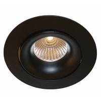 Inbouwspot zwart GU10 110mm diameter