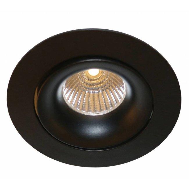 Spot encastrable 230V inclinable noir diamètre 110 mm