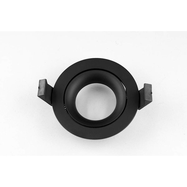 Design inbouwspot GU10 zwart 75mm zaagmaat